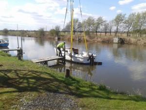 Boat On Finger Mooring